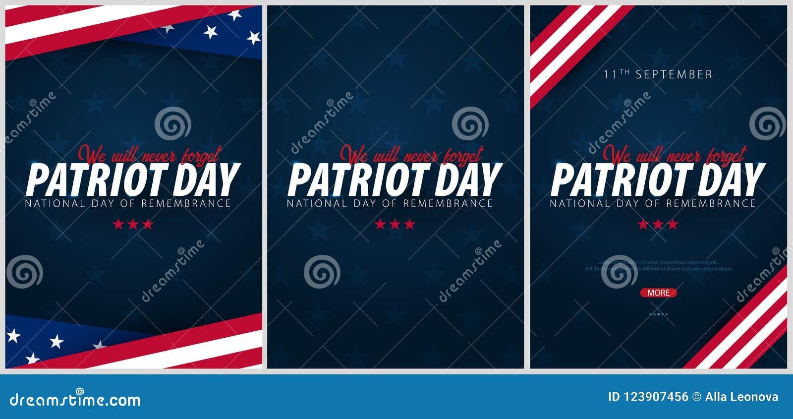 套爱国者天促进, advertisings,海报,横幅,与美国国旗的模板 美国爱国者天墙纸