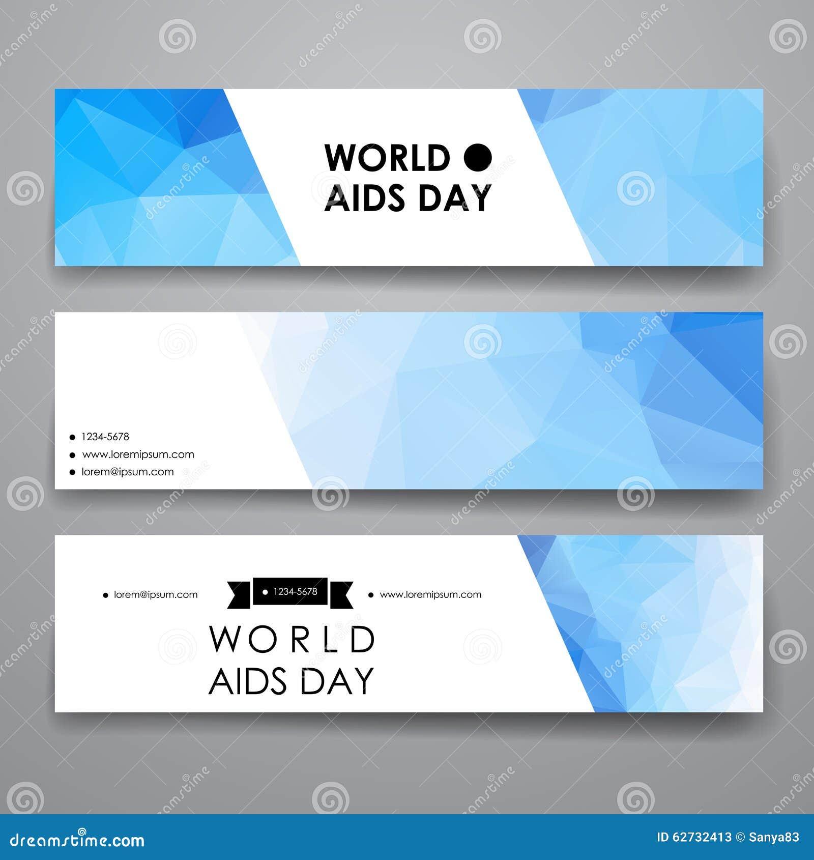 套现代设计在世界艾滋病的横幅模板. 忠告, 收集.
