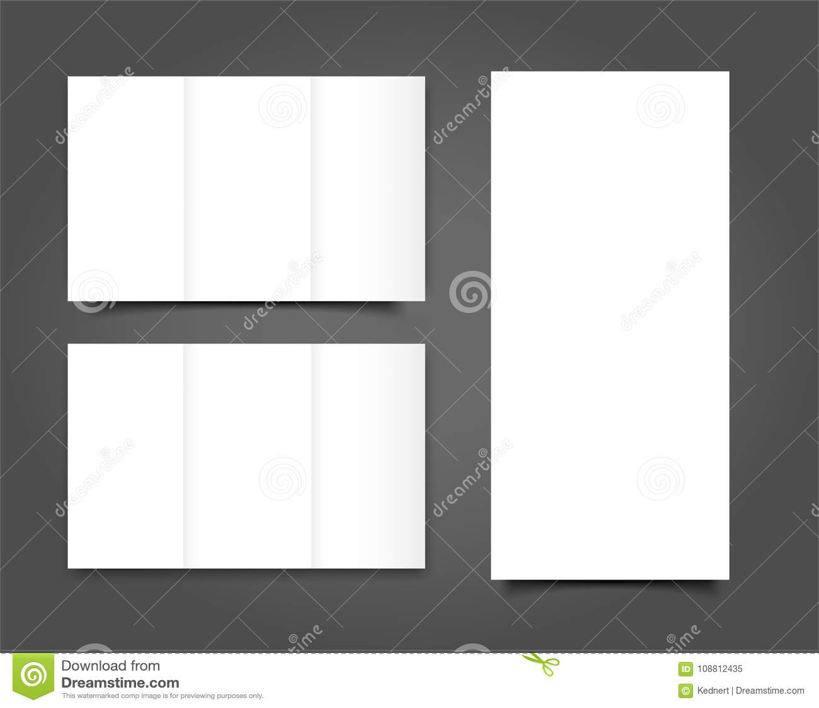 套画象盖子的空白的三部合成的小册子嘲笑 查出