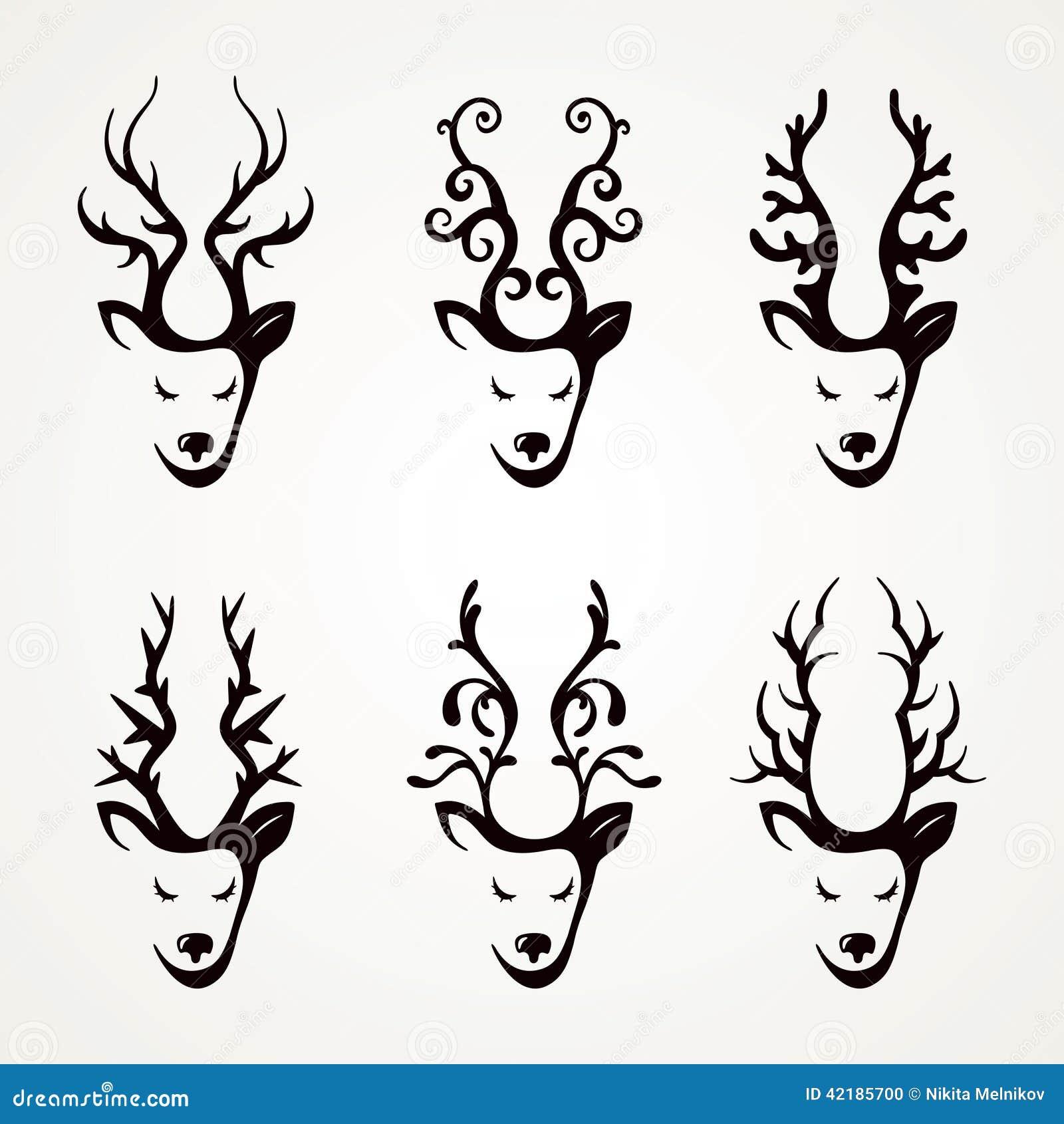套美丽的抽象鹿图片