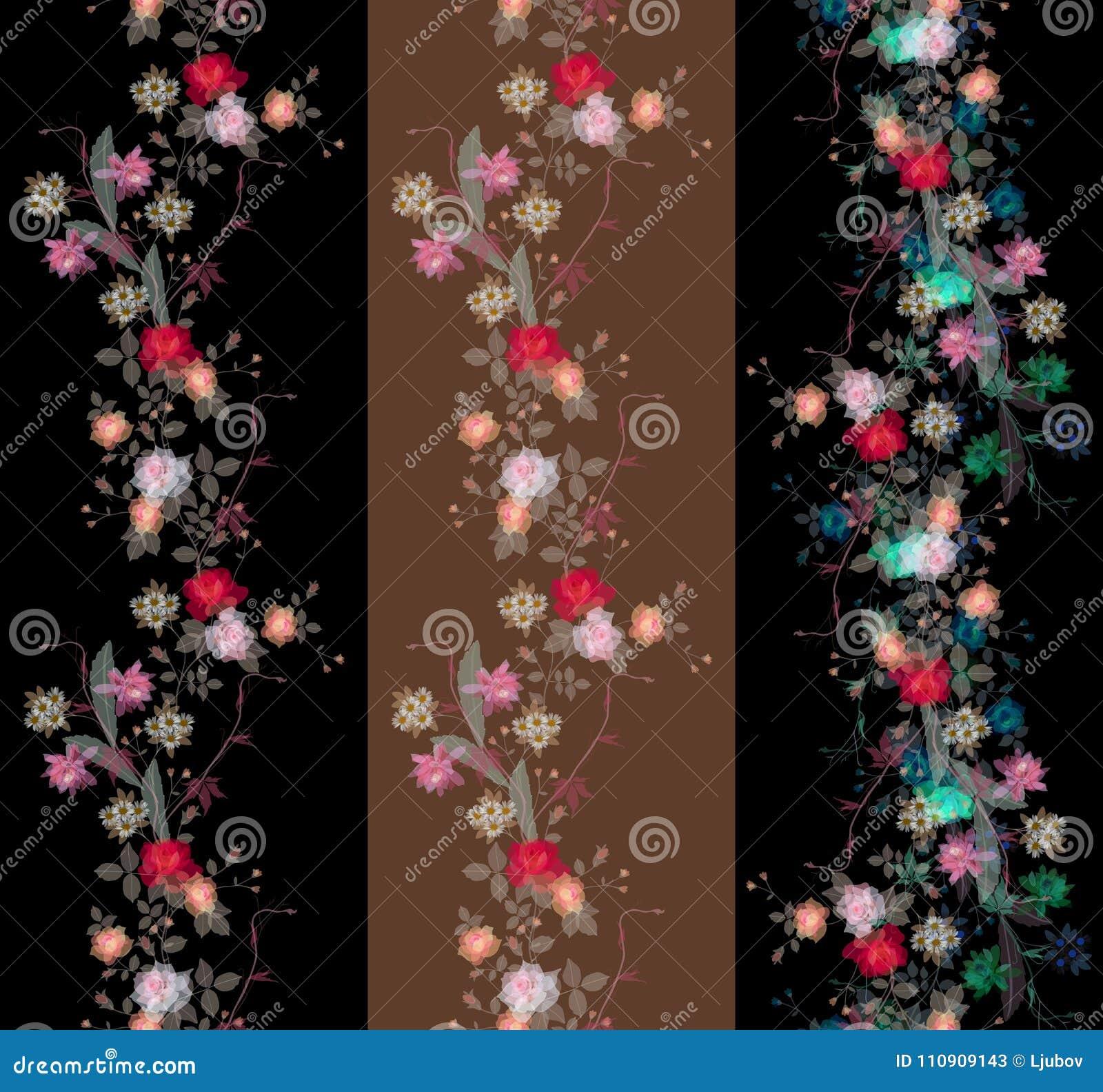 套美好的不尽的花卉透明度边界