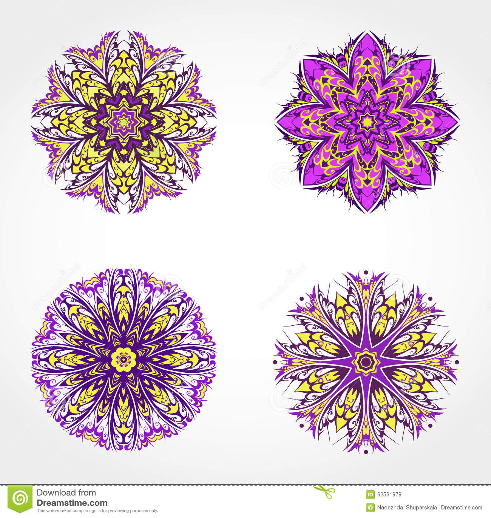套色的装饰圆的装饰品 向量