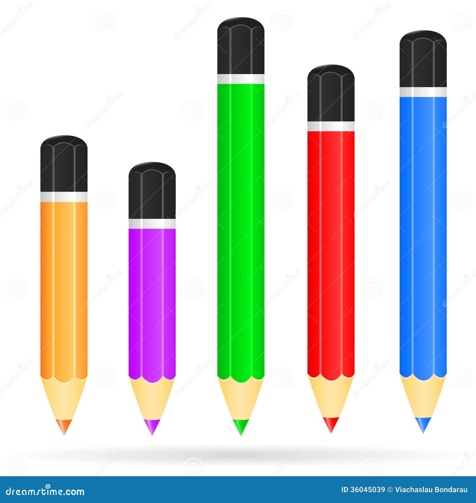 套色的铅笔