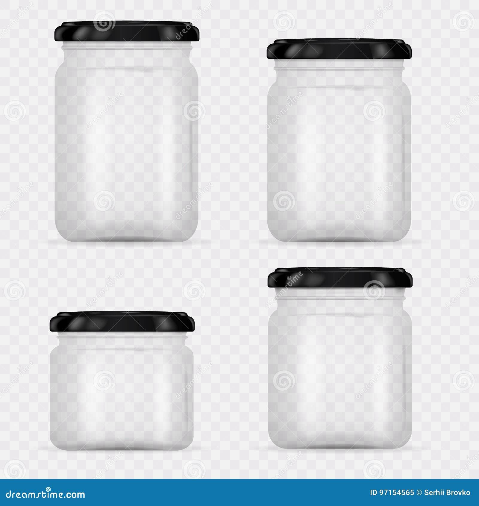 套装于罐中和保存的玻璃瓶子