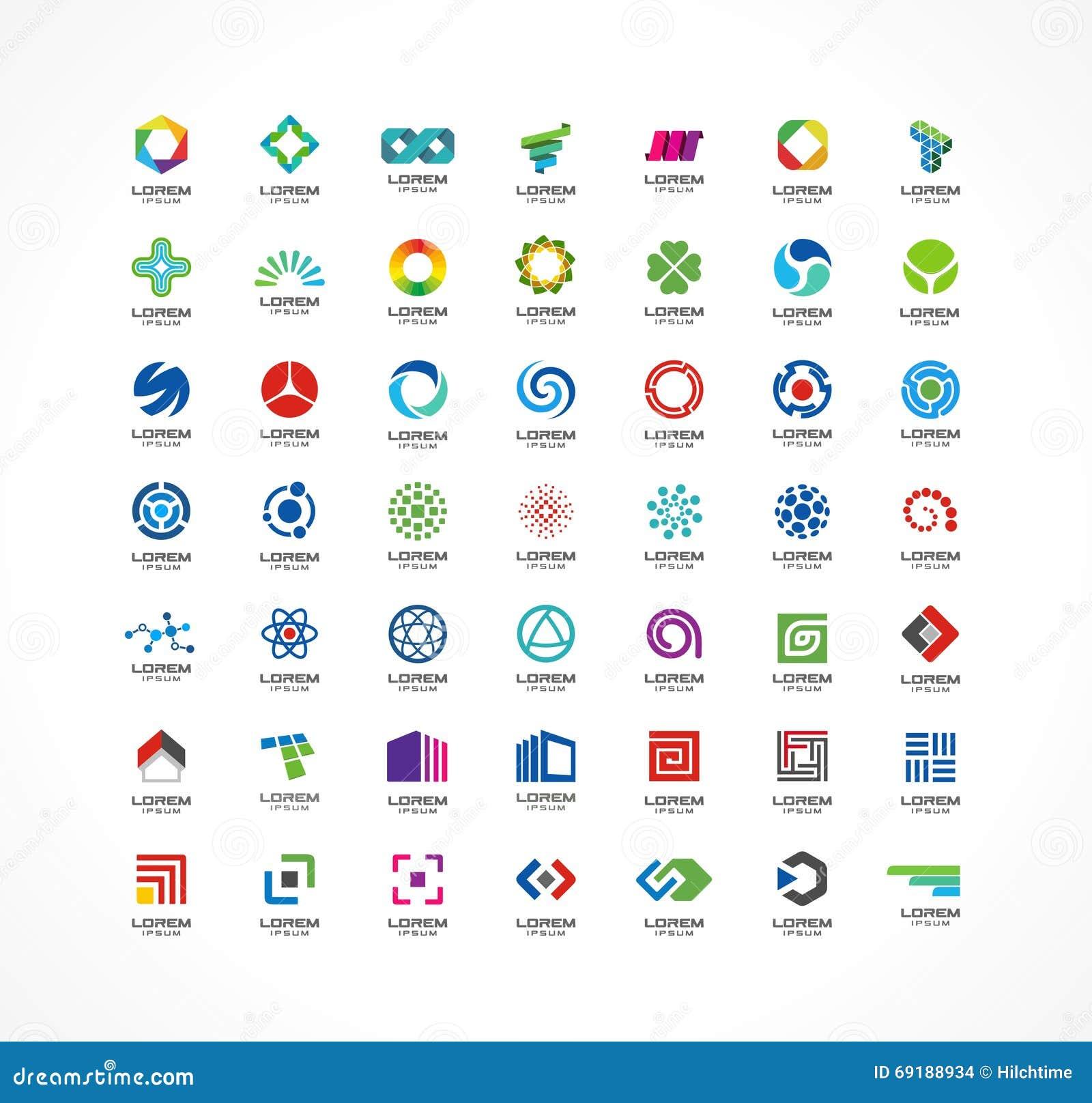 套象设计元素 商业公司的抽象商标想法 财务,通信, eco,技术,科学