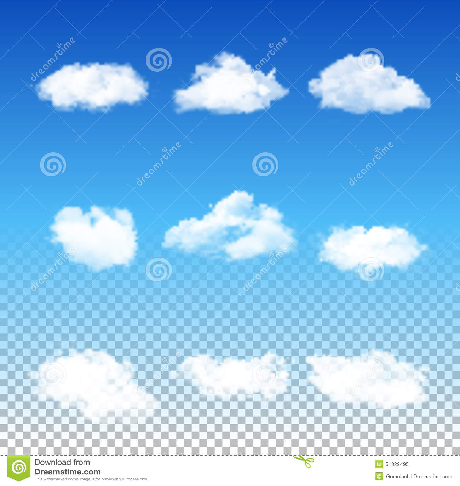 套透明不同的云彩