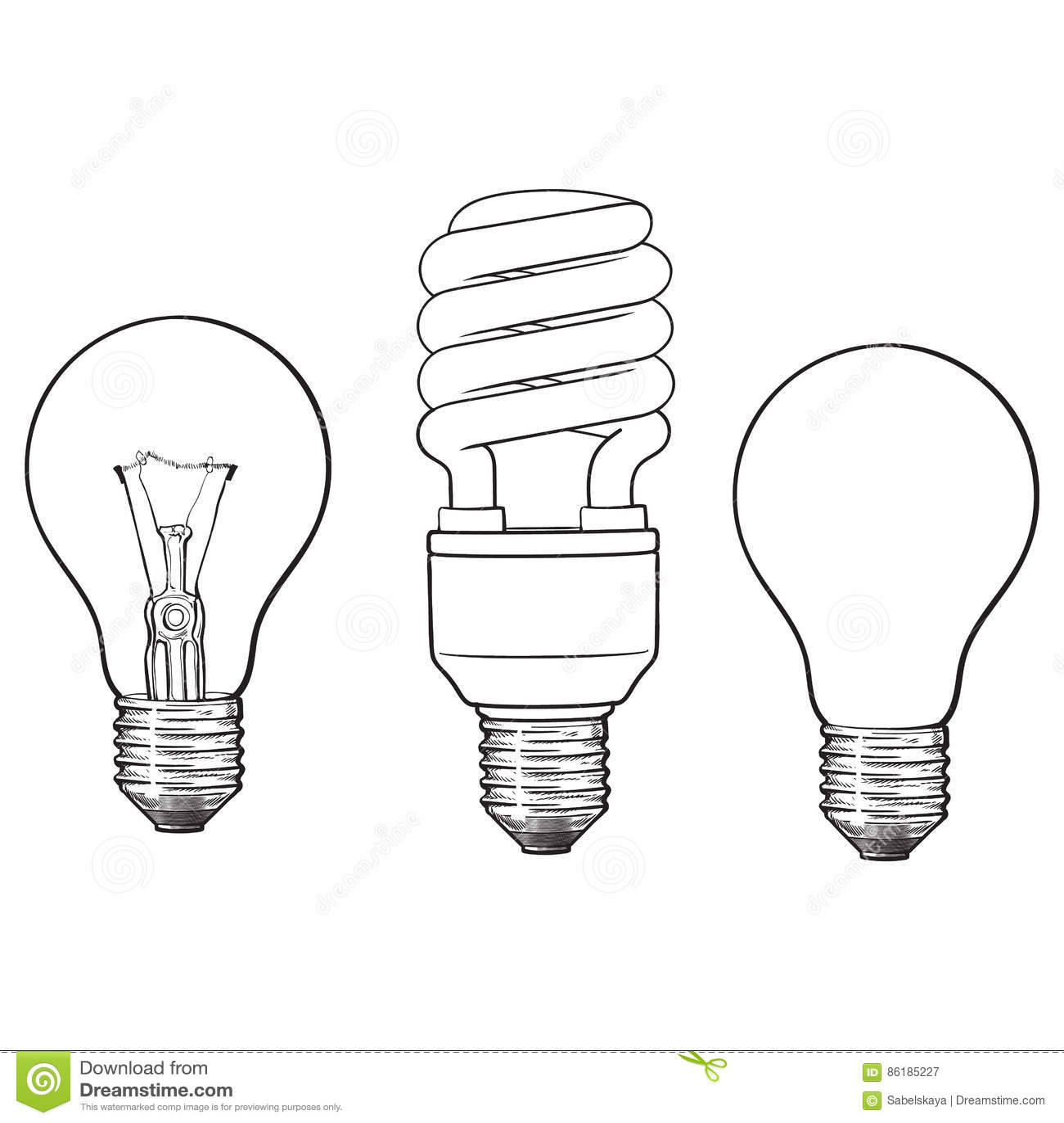 套透明,不透明,发光和节能电灯泡