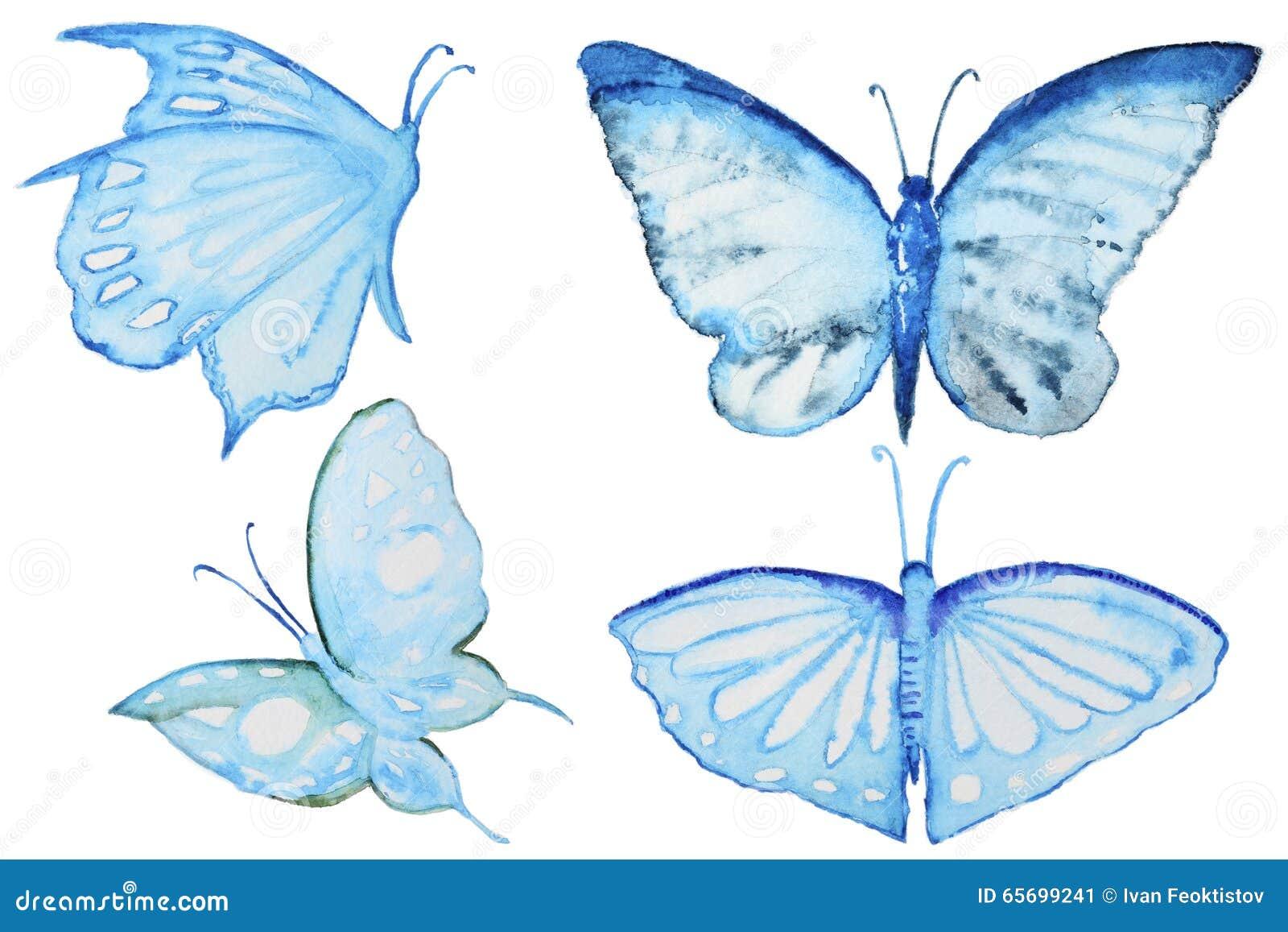 套水彩蝴蝶图片
