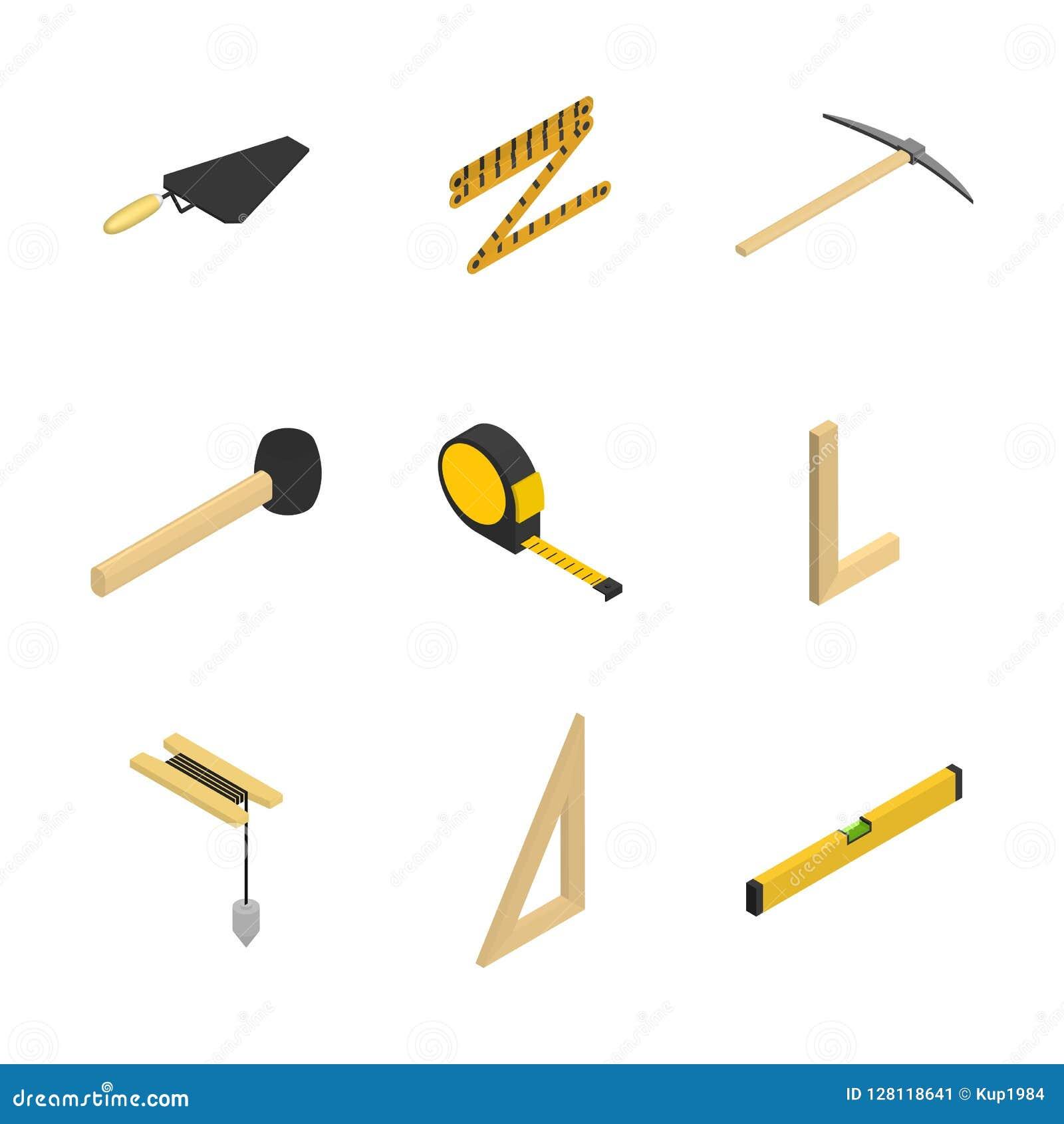 套3d象用工具加工泥工,传染媒介例证