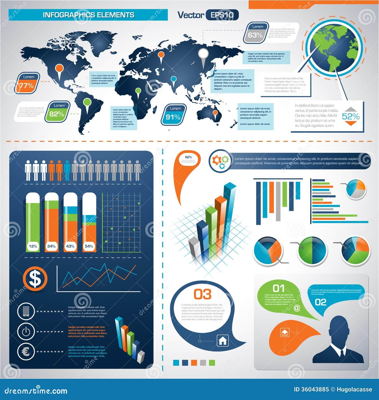 套Infographic元素。信息图表