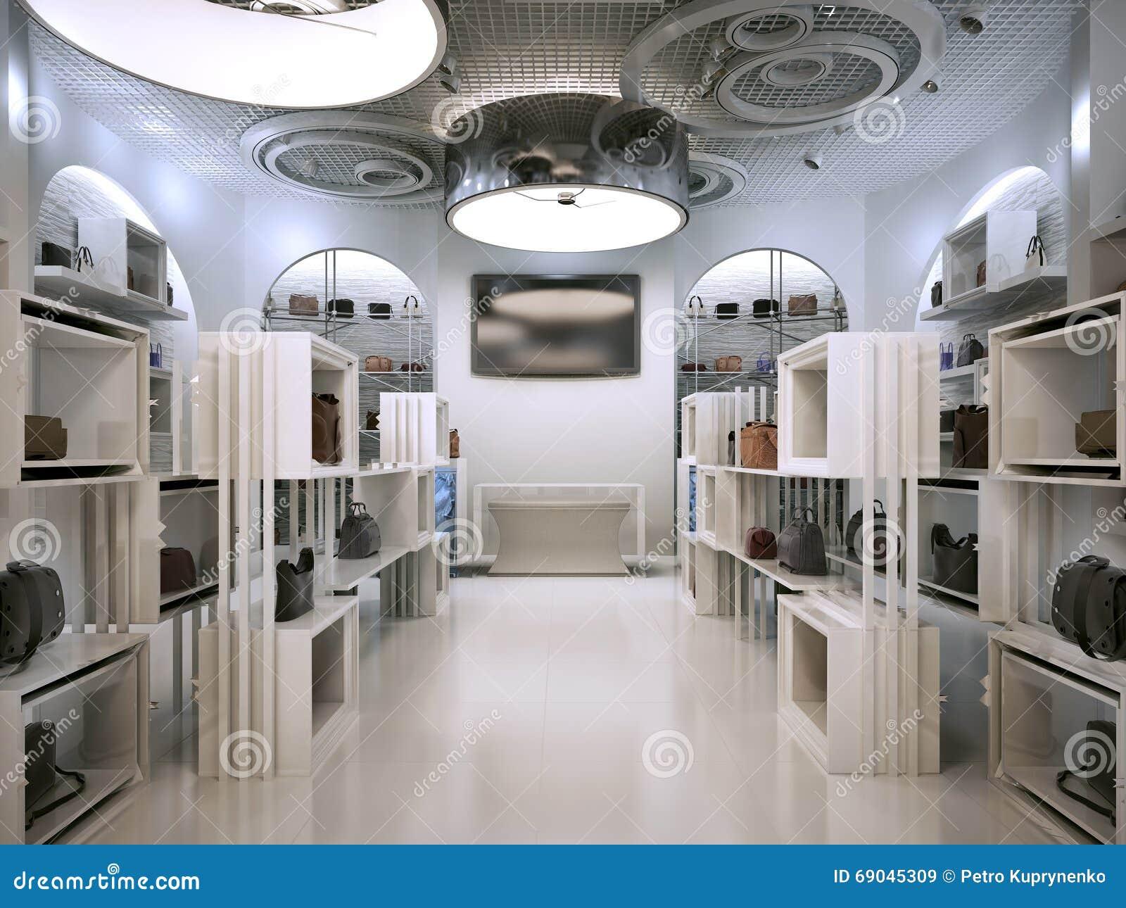 奢侈品商店室内设计与Contem提示的艺术装饰样式