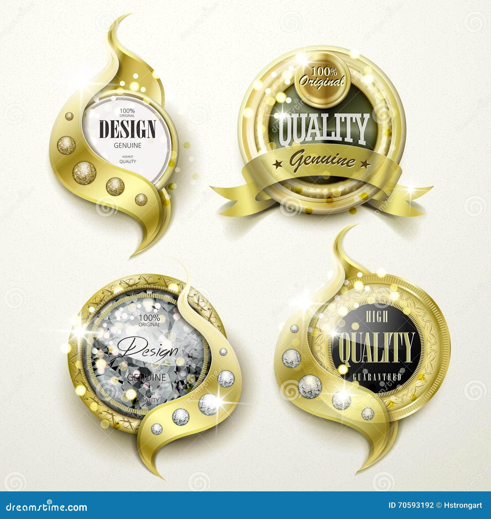 奢侈金和首饰标签设计