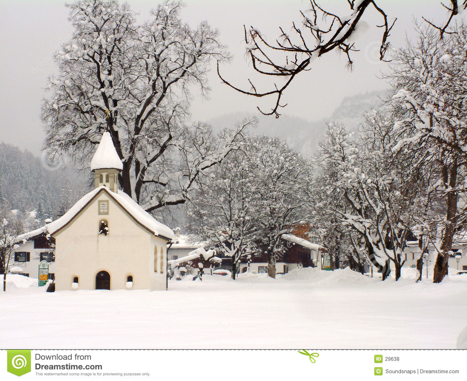 奥地利教堂冬天