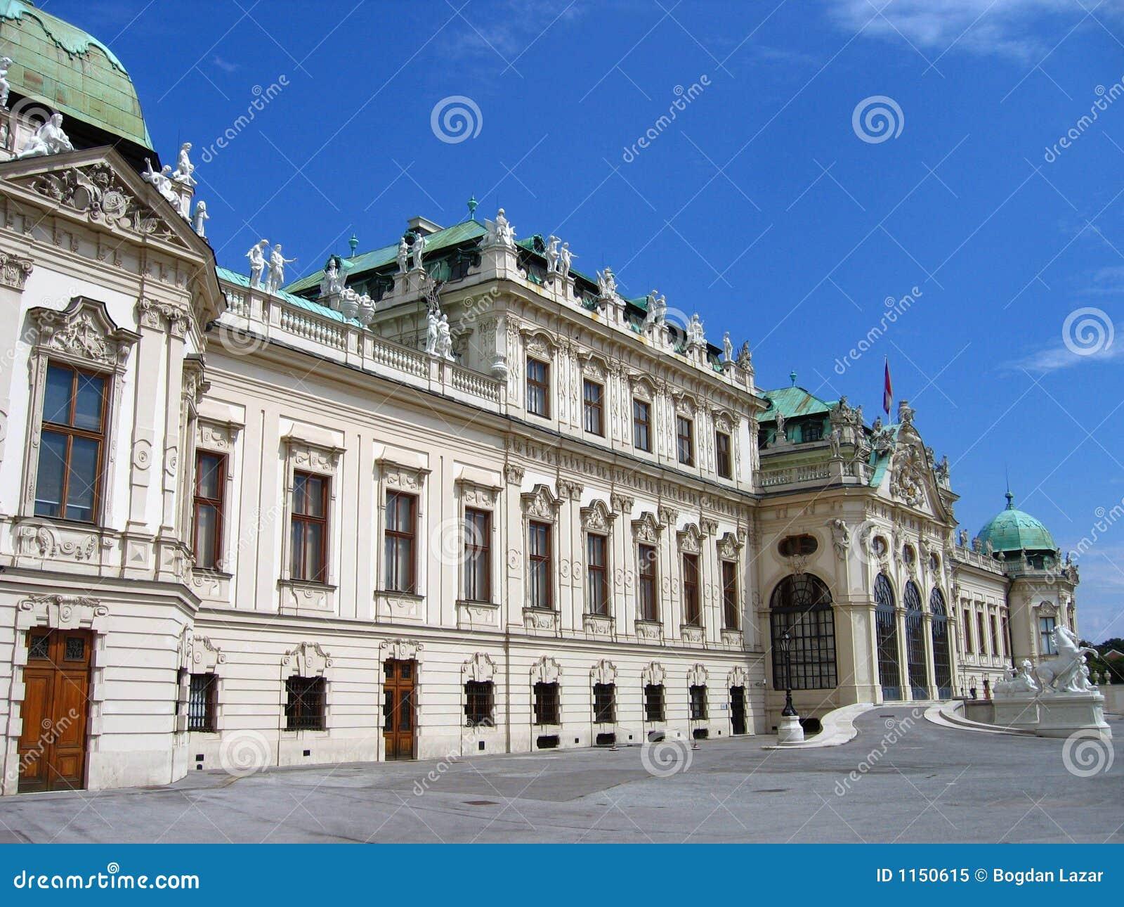 奥地利眺望楼宫殿较大维也纳