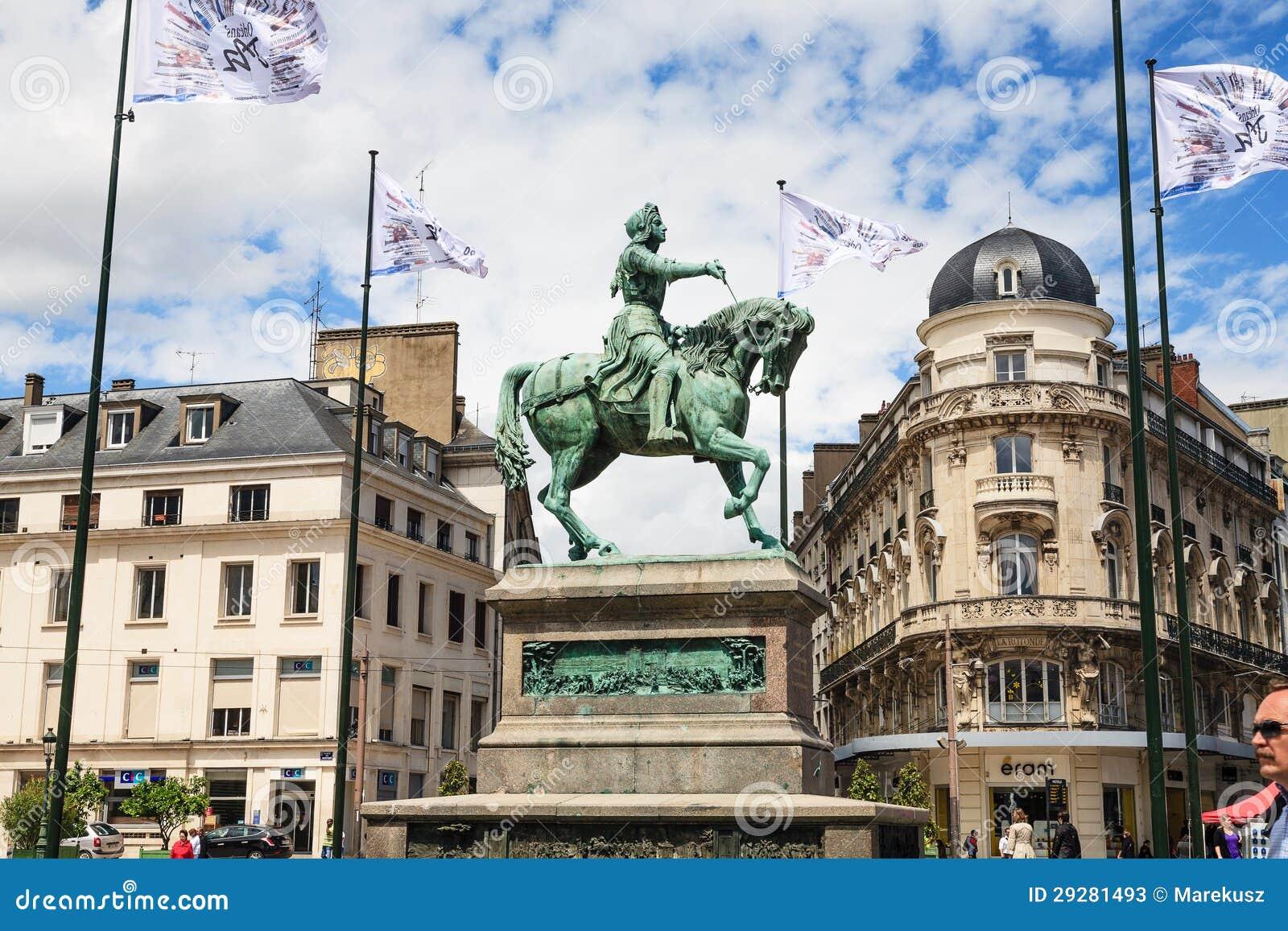 奥尔良雕象Jeanne D Arc,法国