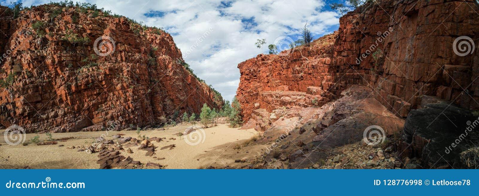 奥尔莫克峡谷,北方领土,澳大利亚全景西部麦克唐奈范围的,