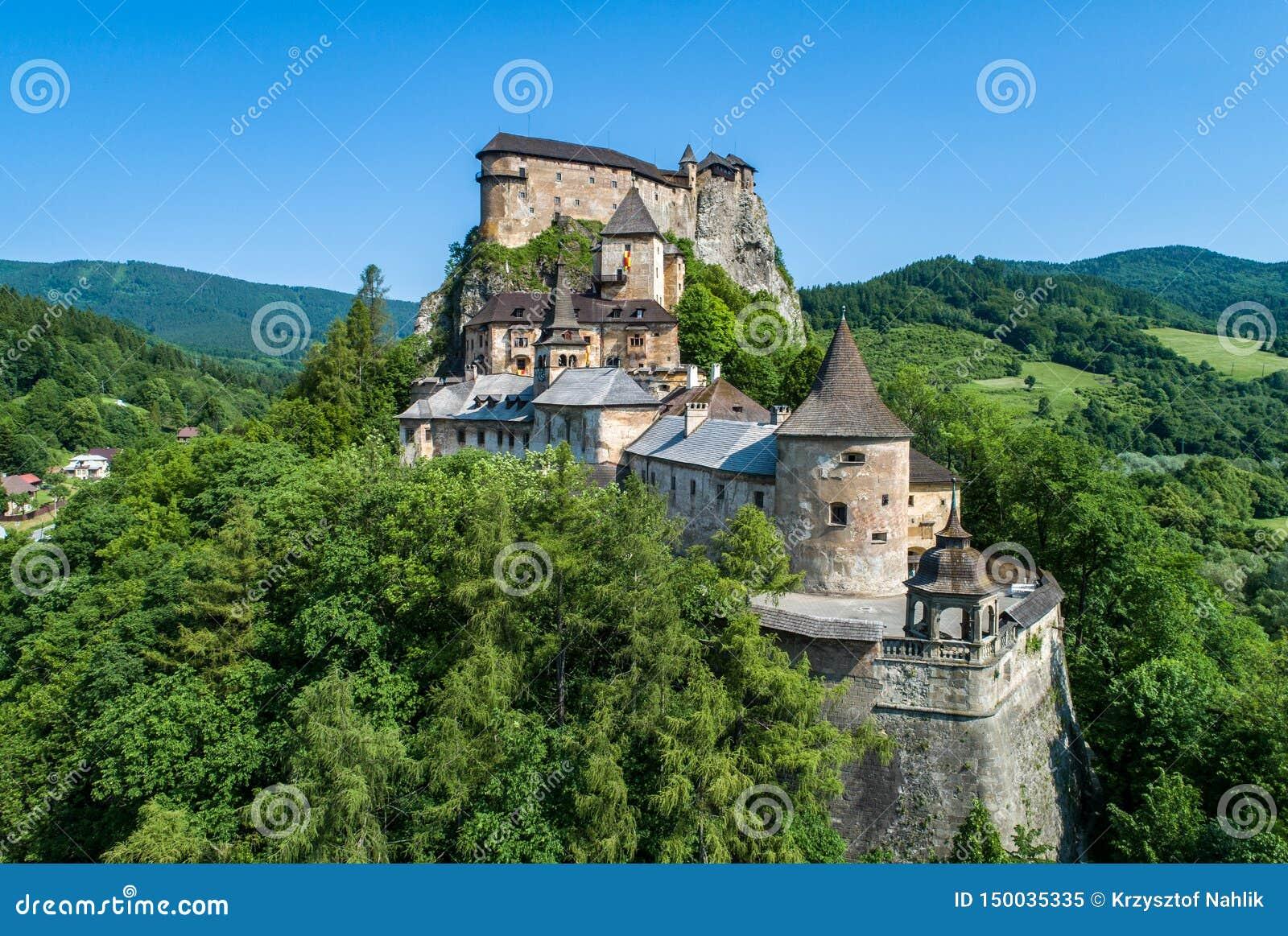 奥拉瓦河城堡在斯洛伐克 r