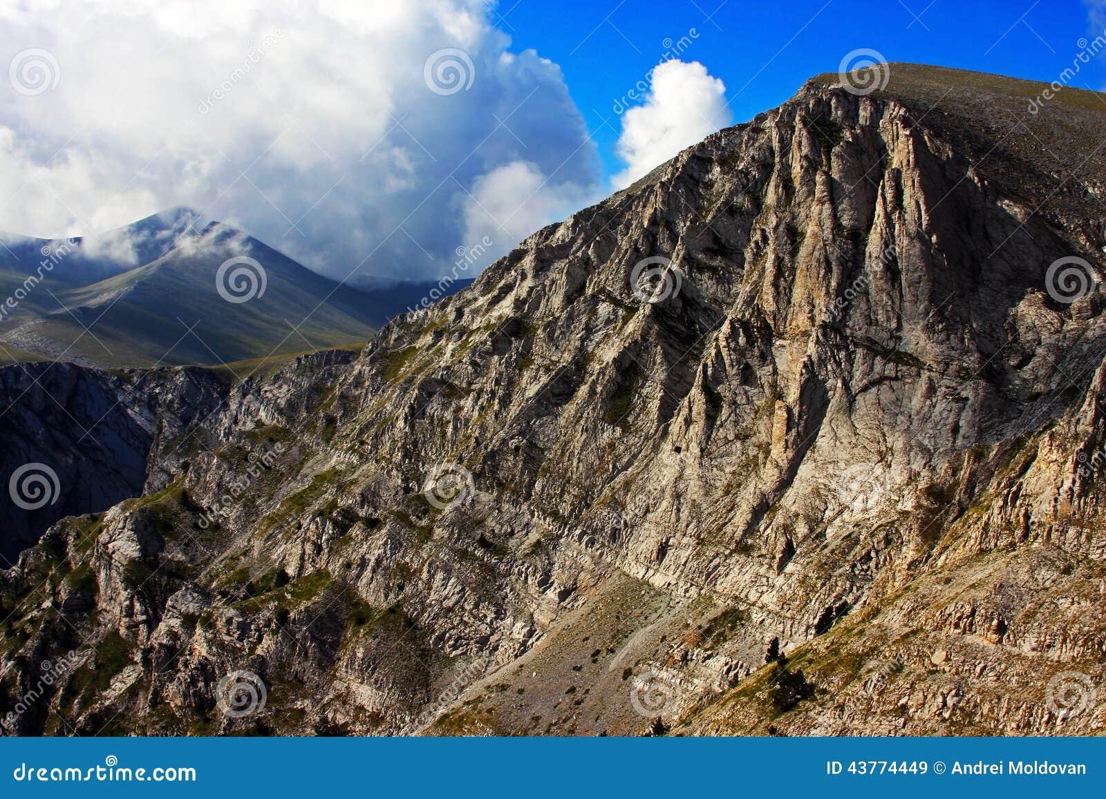 奥林匹斯山峰顶的美丽的景色