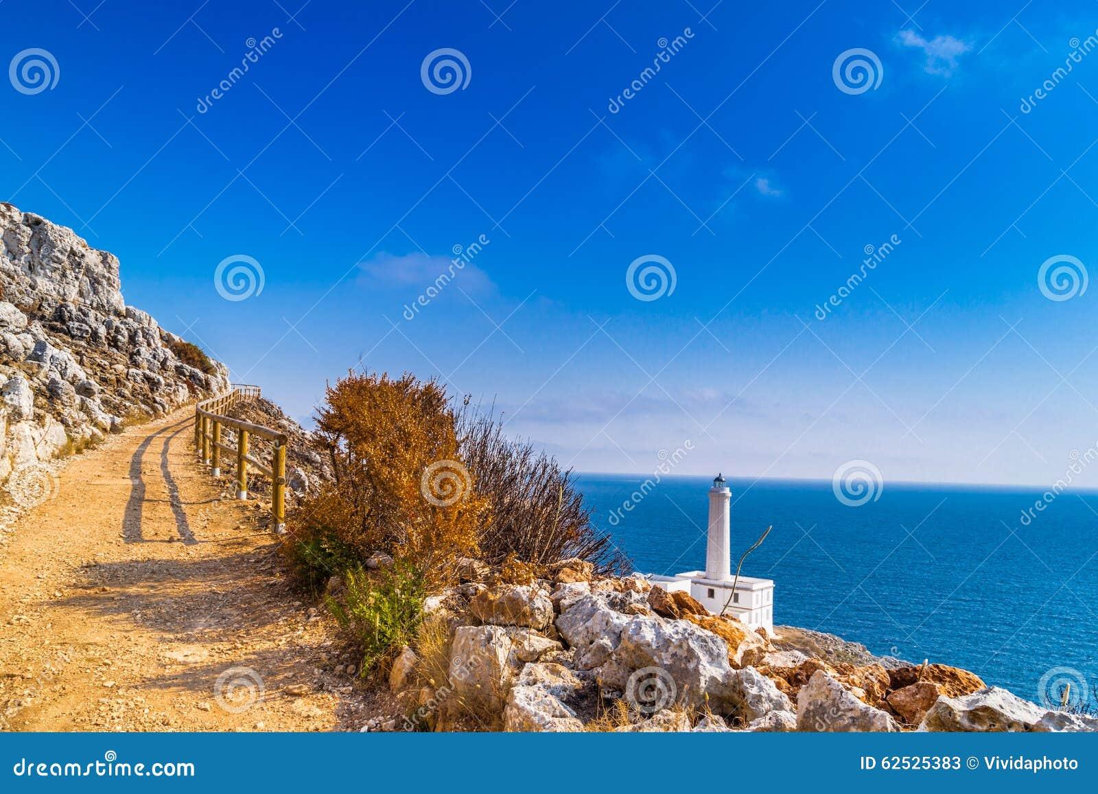 奥特朗托海角灯塔在意大利