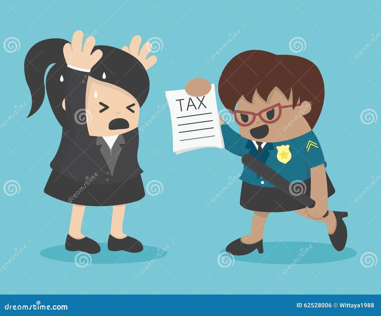 女商人躲避税