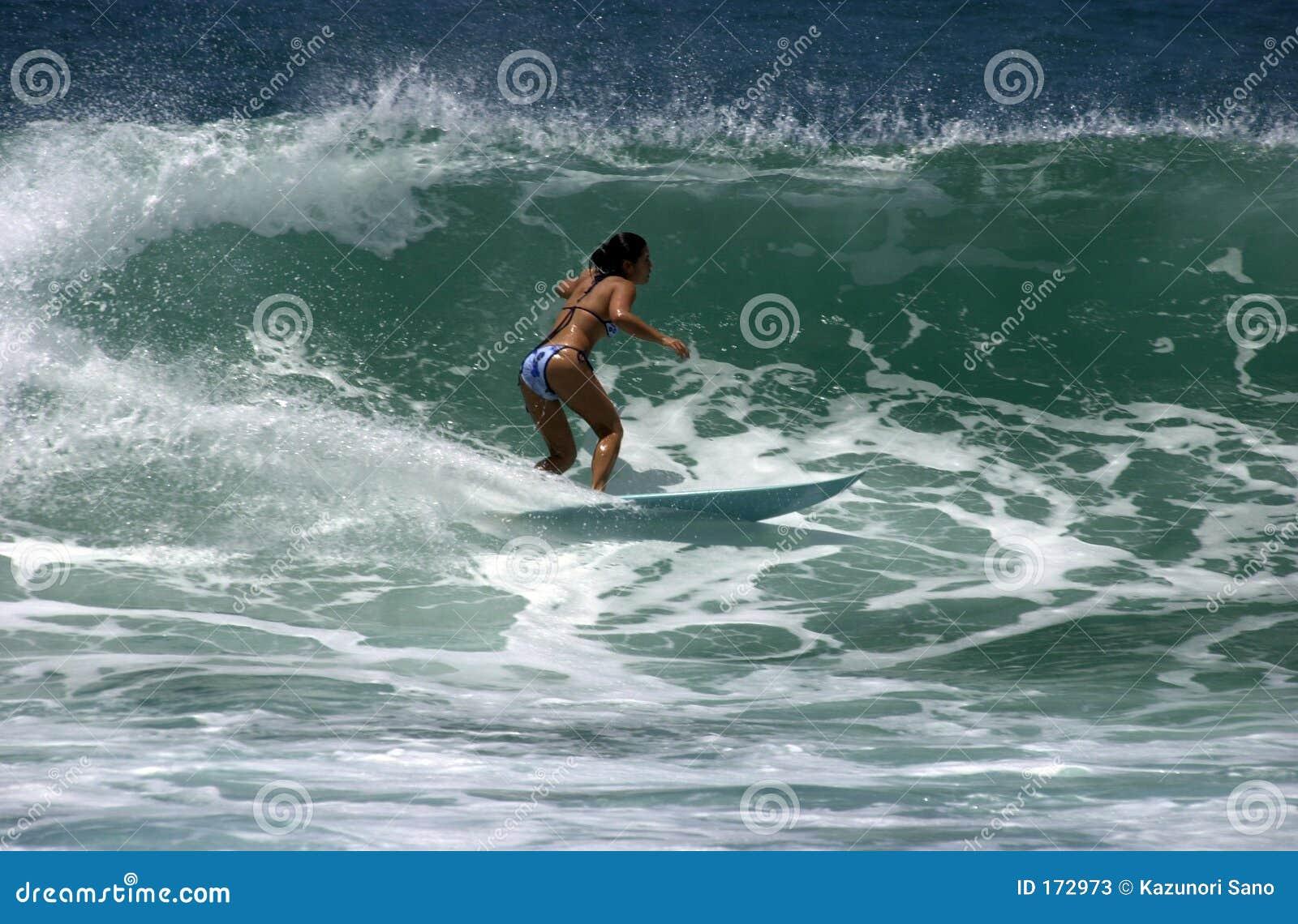 女孩冲浪者