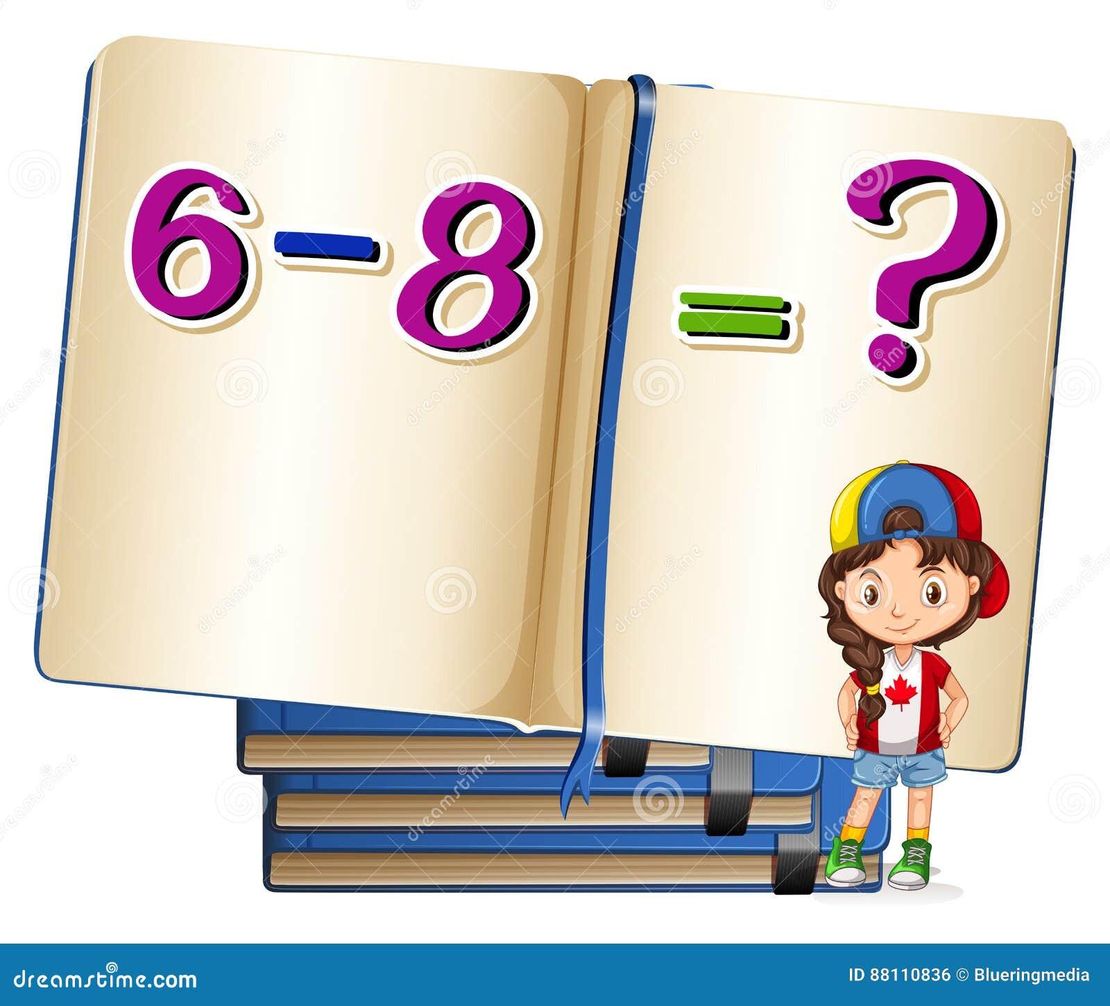 女孩和数学题在减法