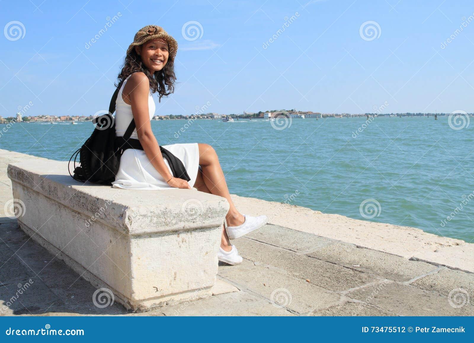 女孩在威尼斯