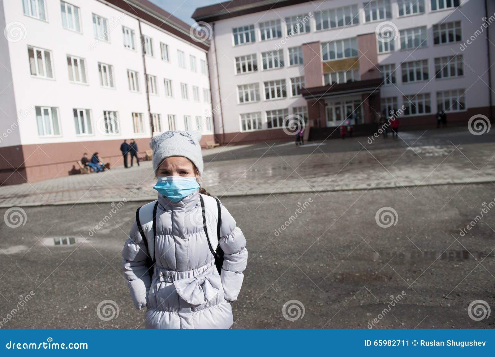 女孩孩子流行性流感医学儿童医疗面具
