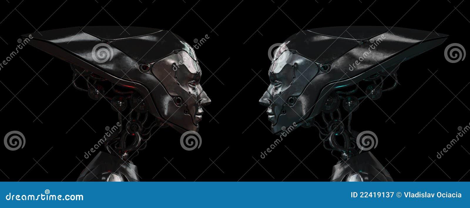 女孩机器人钢时髦
