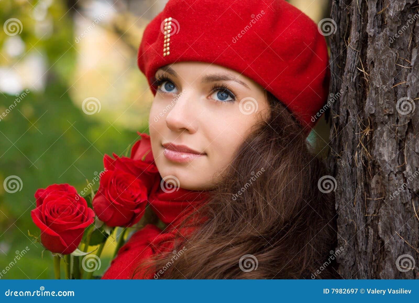 女孩浪漫玫瑰