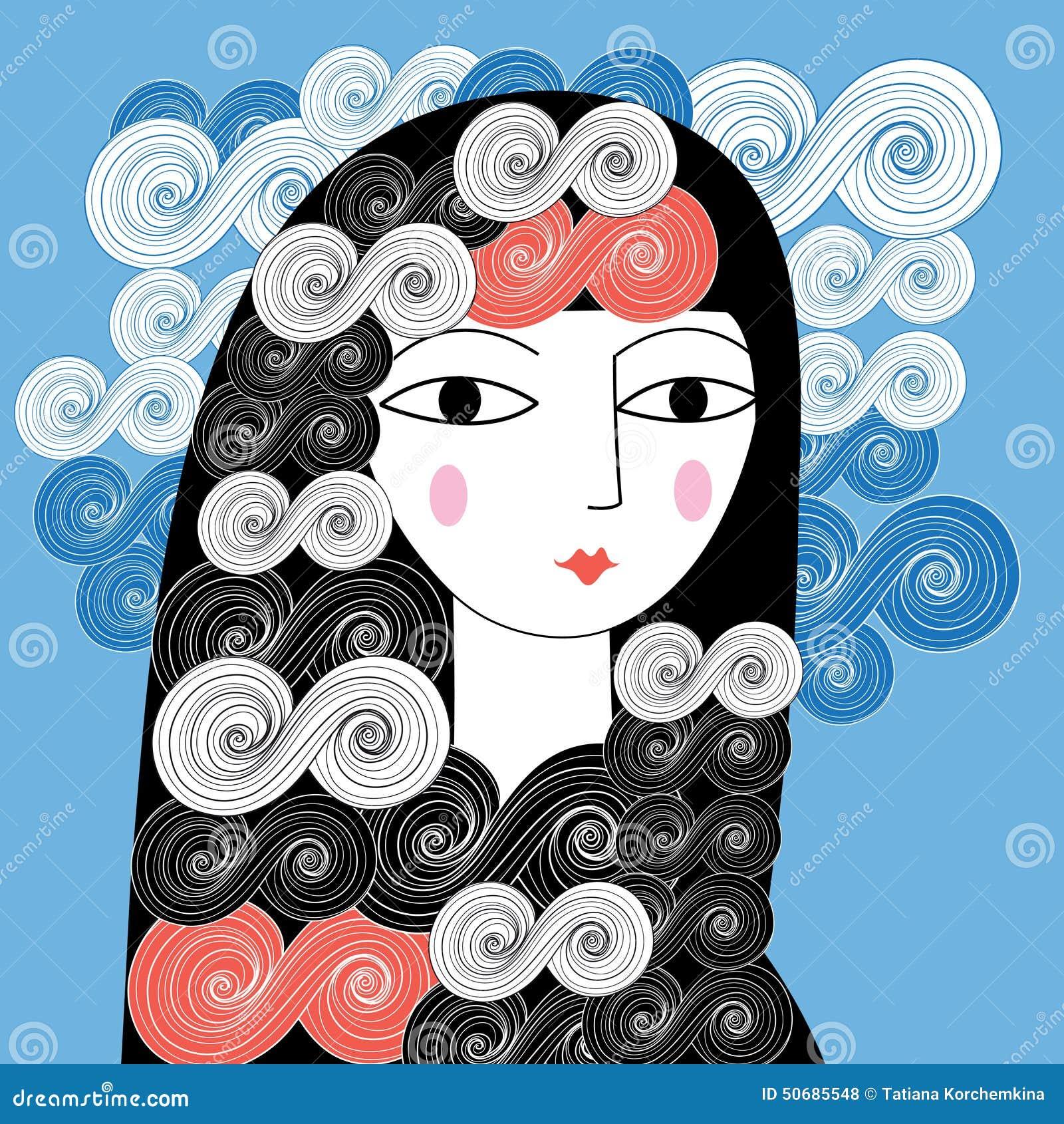 Download 女孩的纵向 向量例证. 插画 包括有 剪影, 忠告, 反气旋, 空白, 通知, 女孩, 示例, 纵向, 艺术 - 50685548