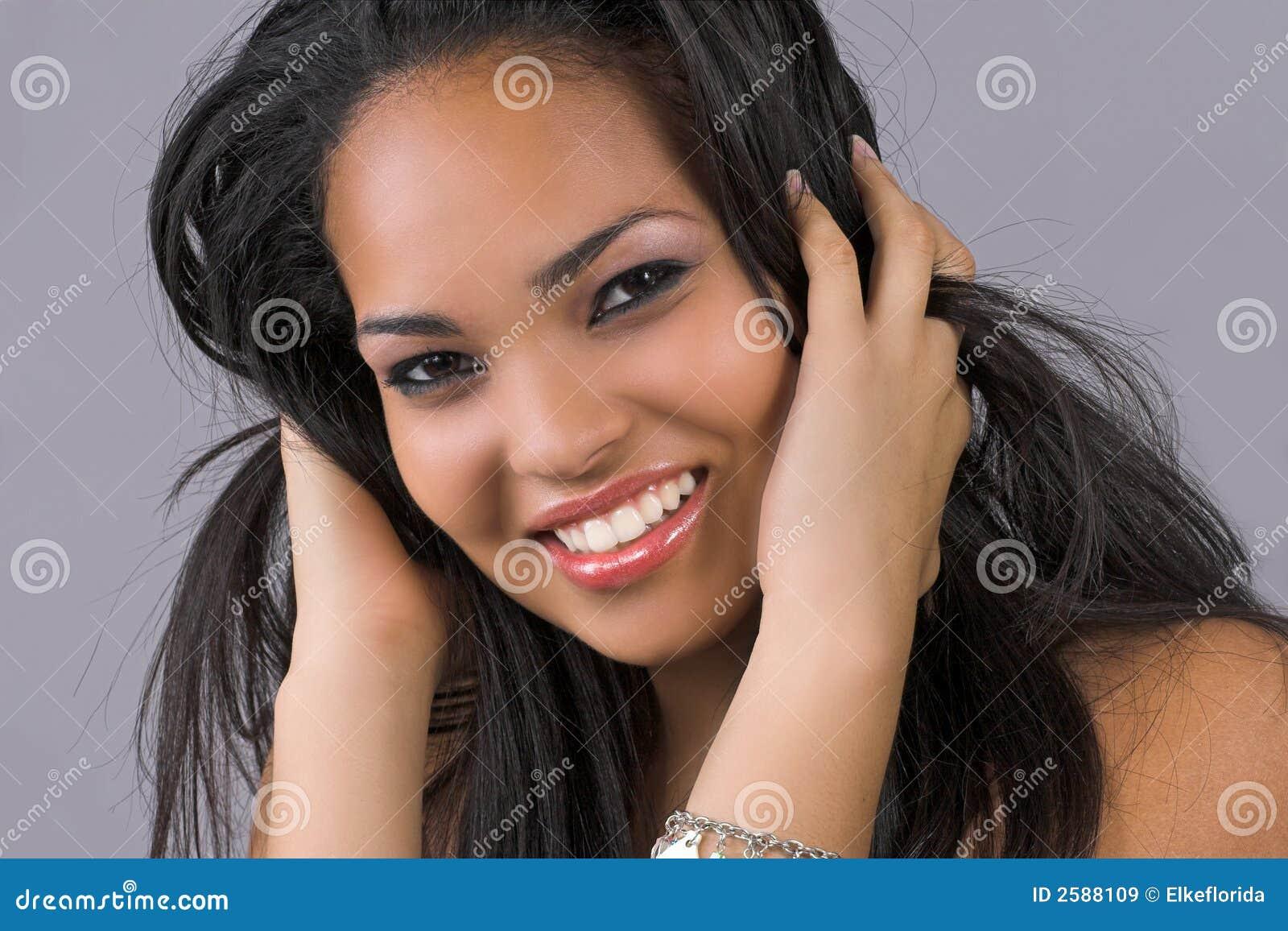 女孩头发使用图片