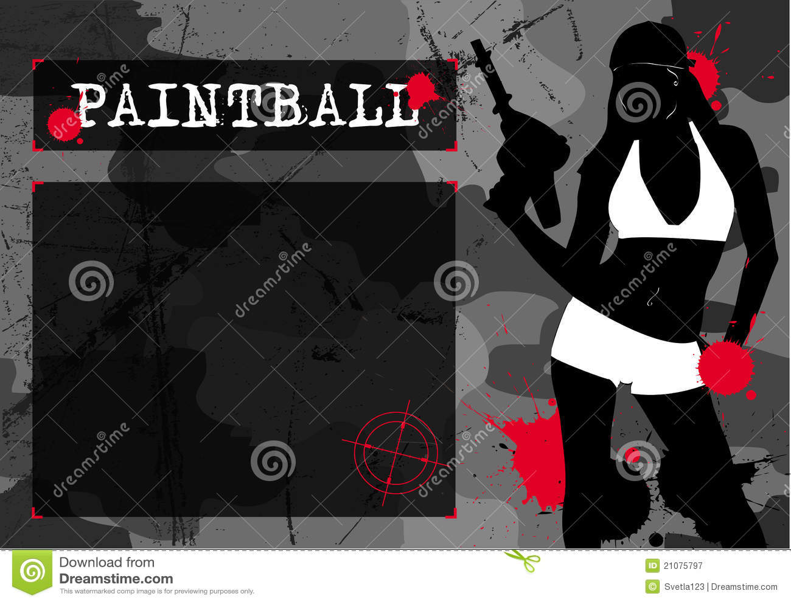 女孩paintball