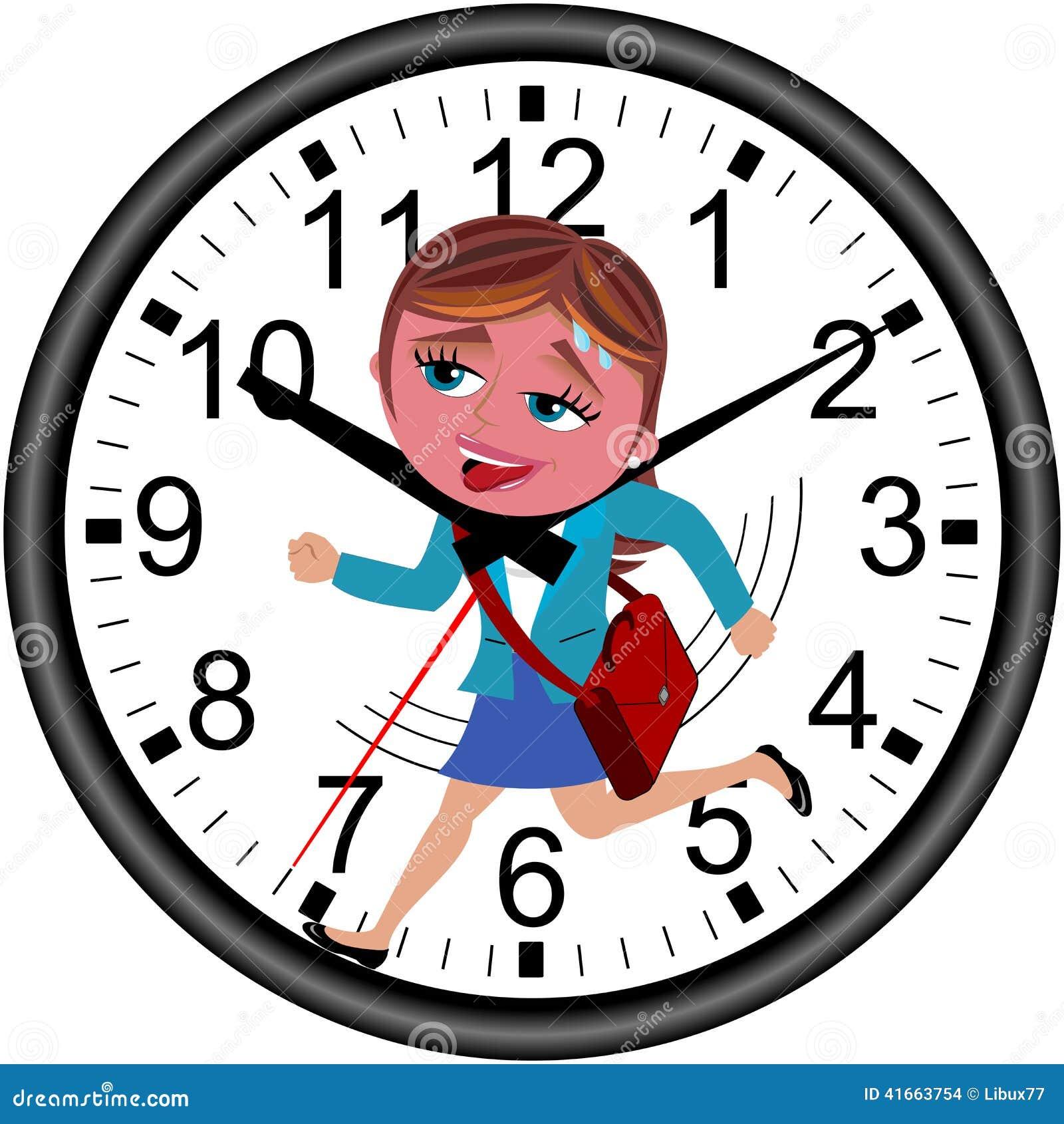 女实业家最后期限被隔绝的时钟赛跑