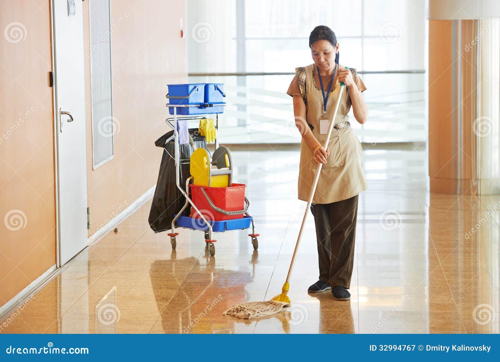 女工清洁企业大厅