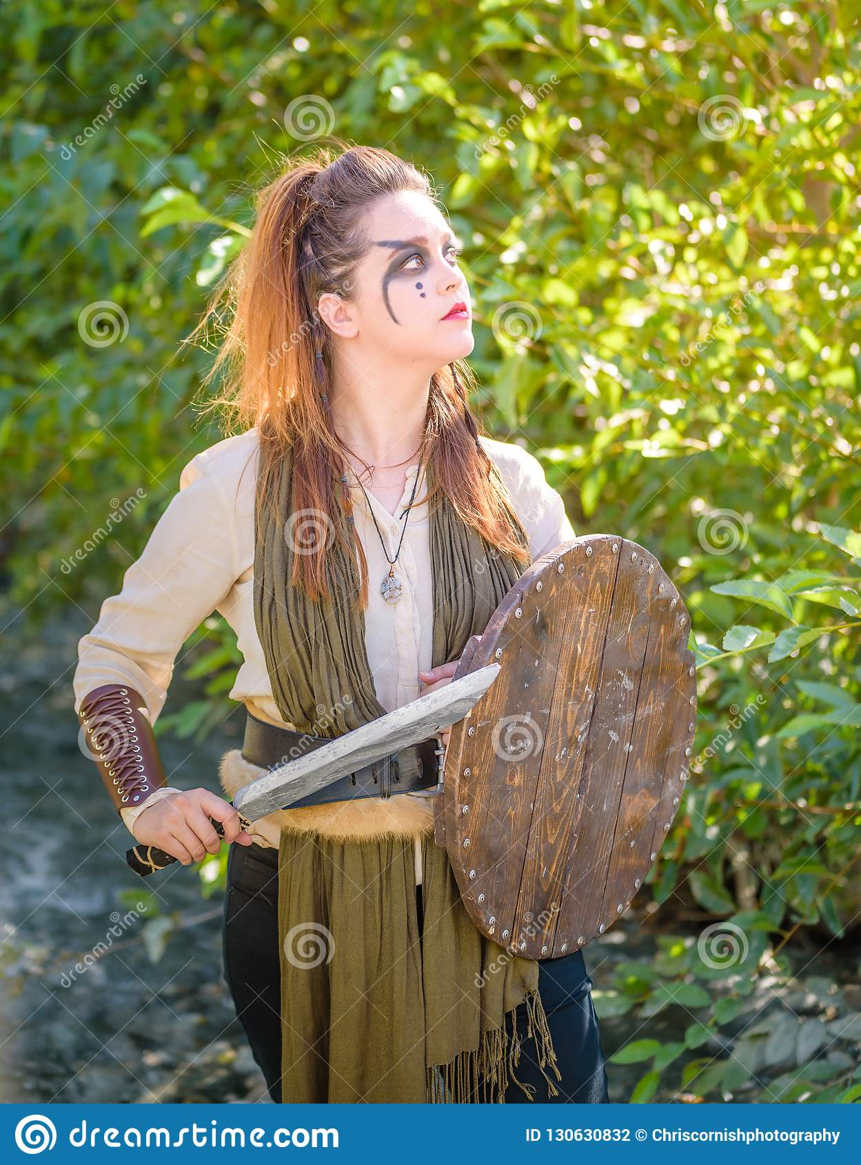 女性北欧海盗字符