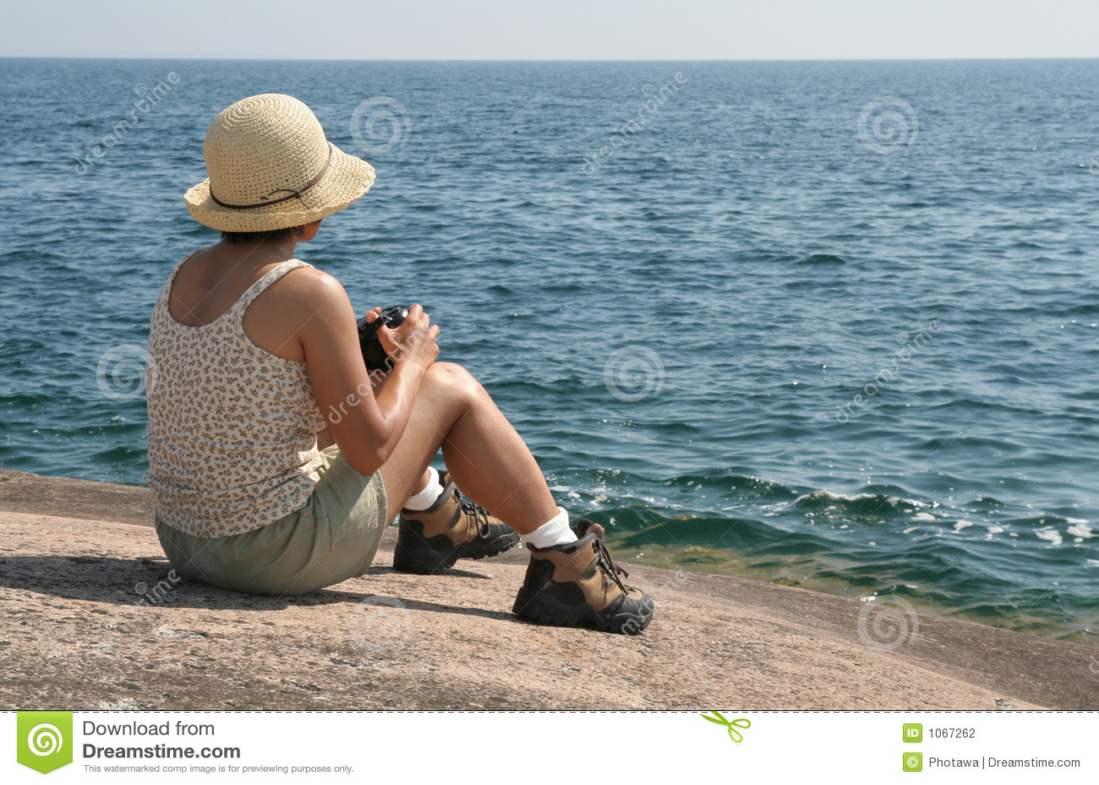 女性湖摄影师主管