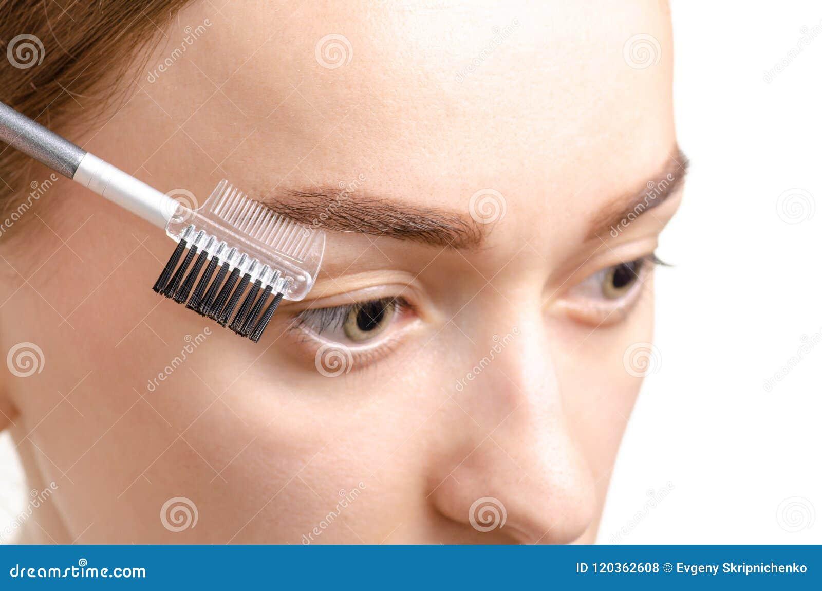 女性眼眉形状褐色眼眉刷子