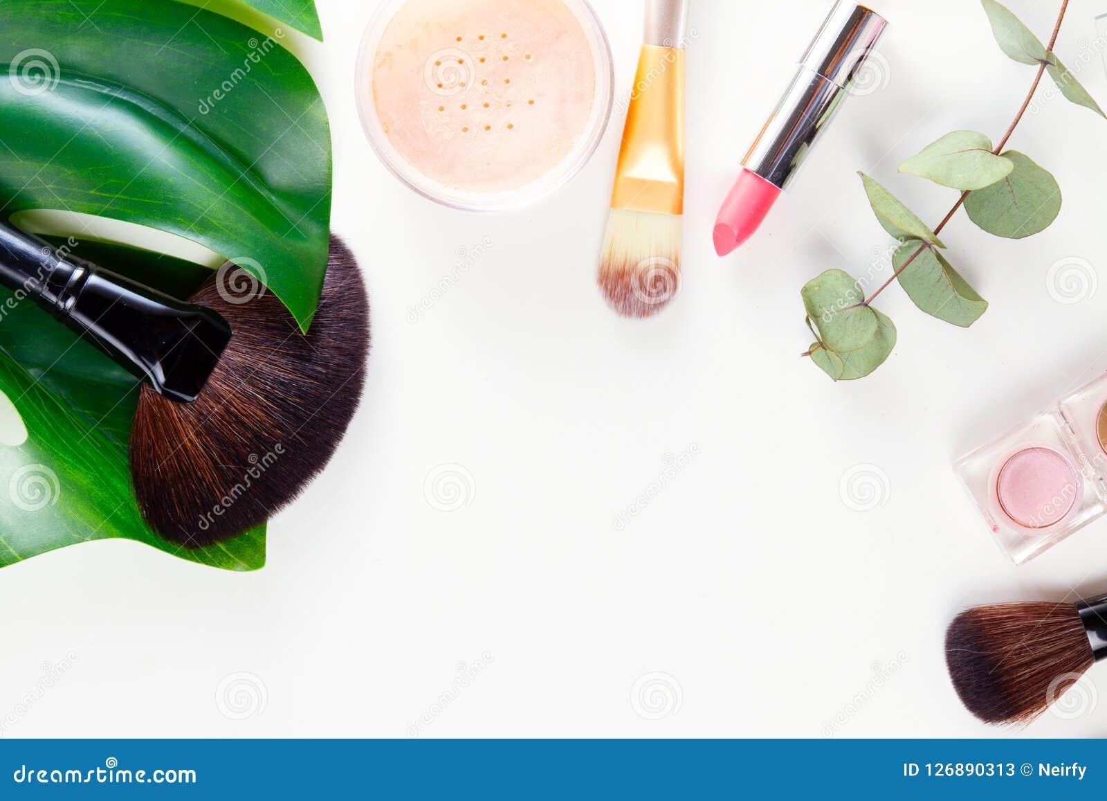 奶油色唇膏构成染睫毛油指甲油专业口气工具