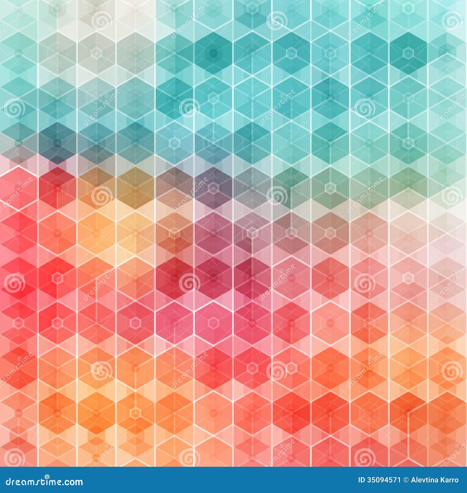 好和色的几何样式。