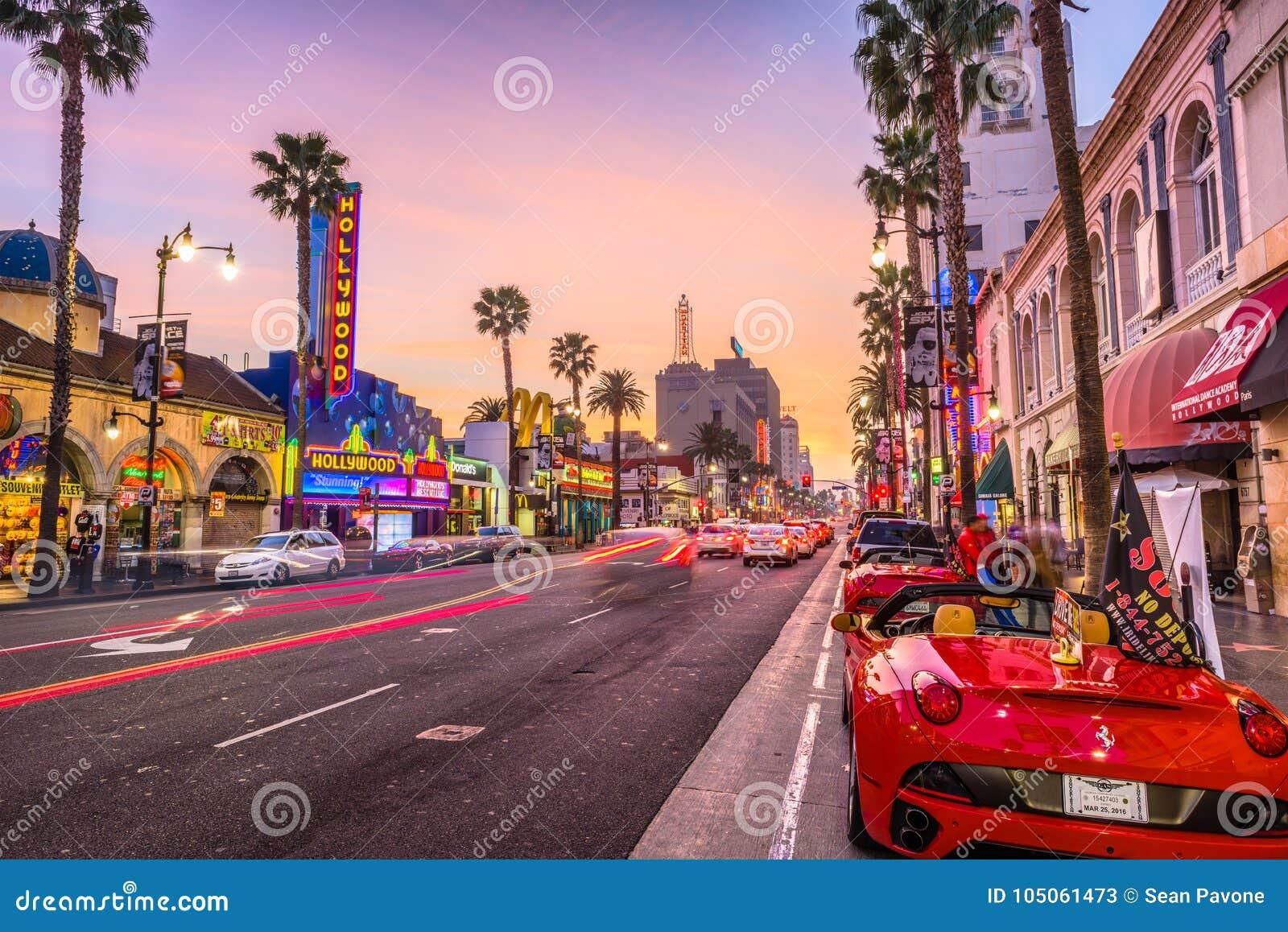 好莱坞大道加利福尼亚