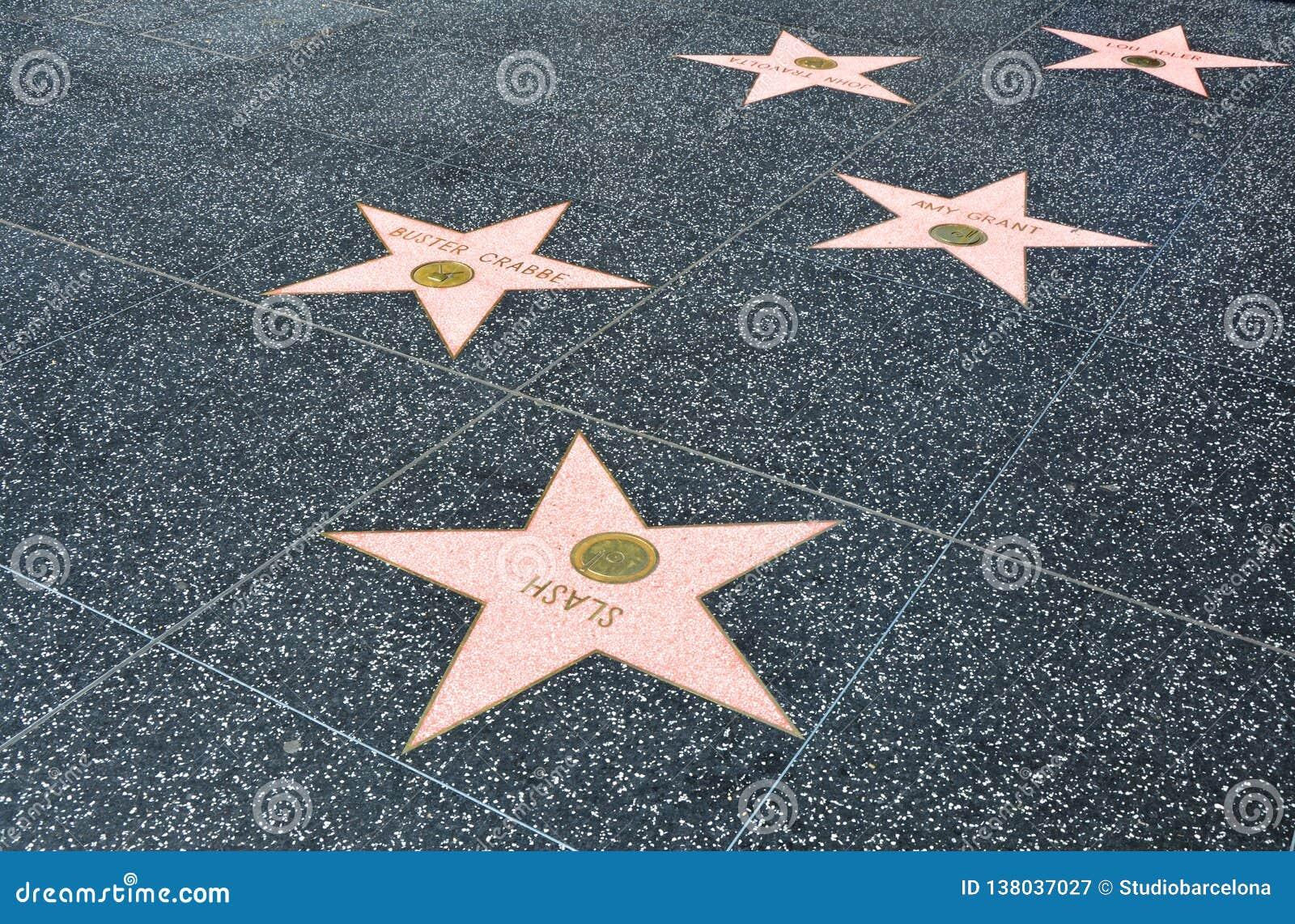 好莱坞星光大道在洛杉矶