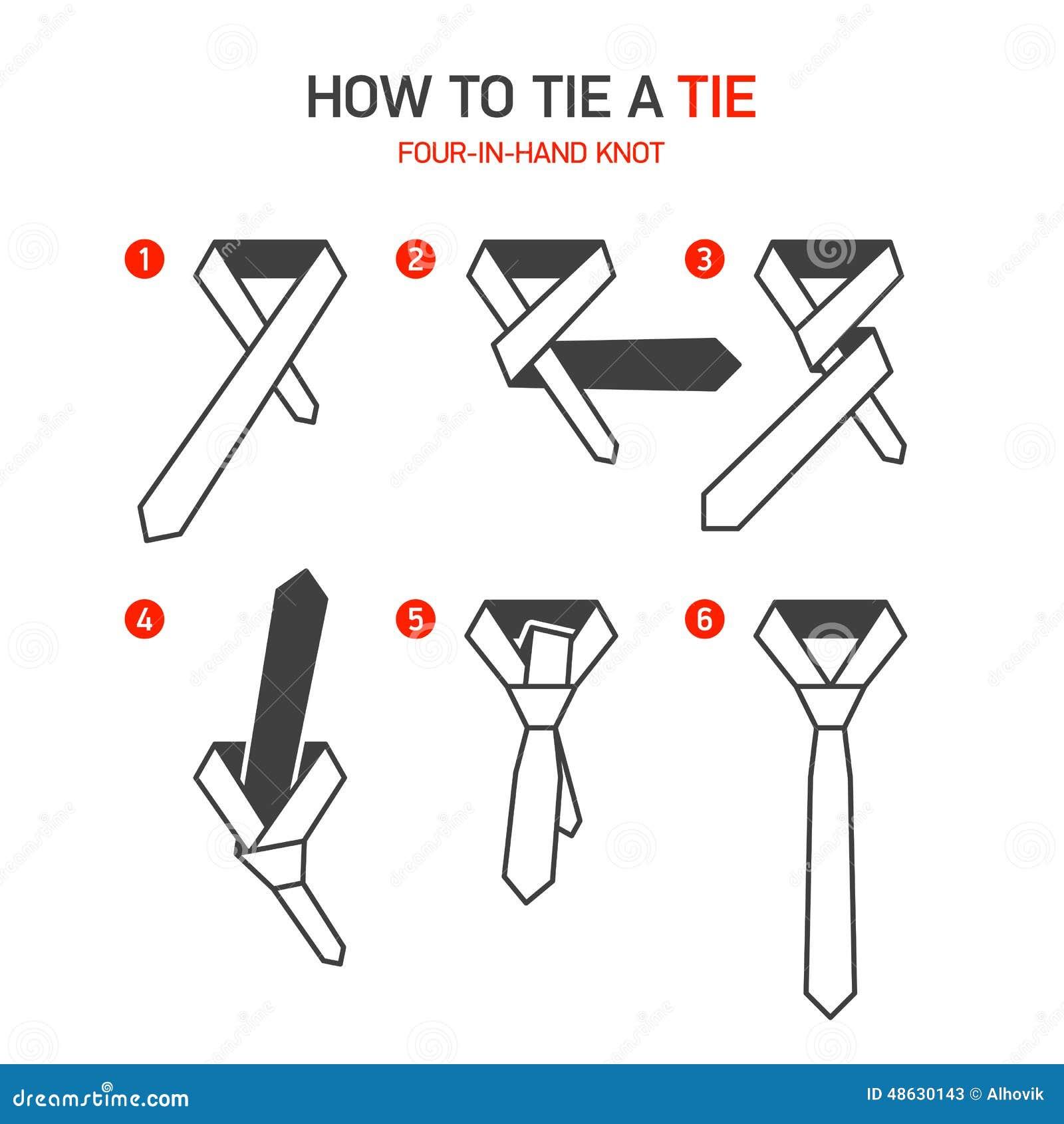 如何栓领带指示