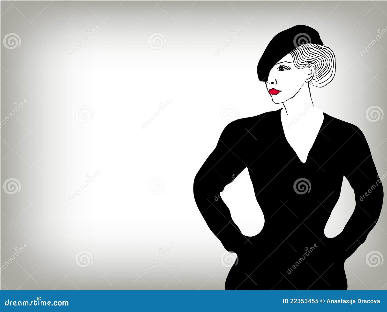 妇女图象方式概念背景