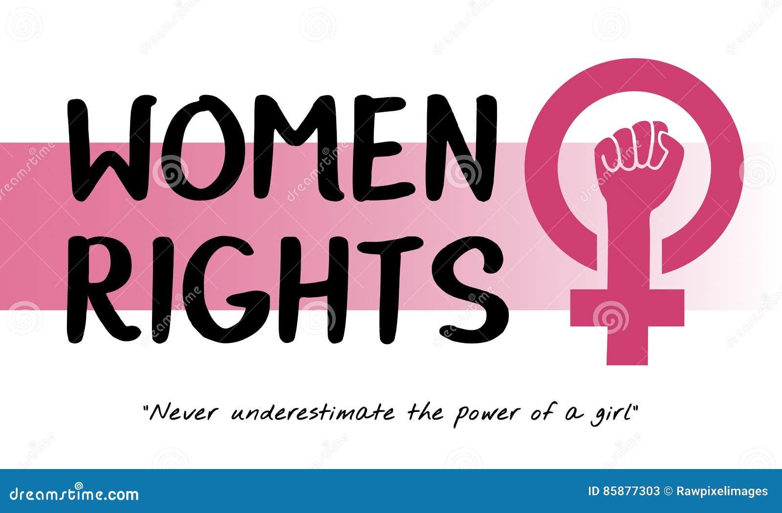 妇女女孩力量女权主义机会均等概念