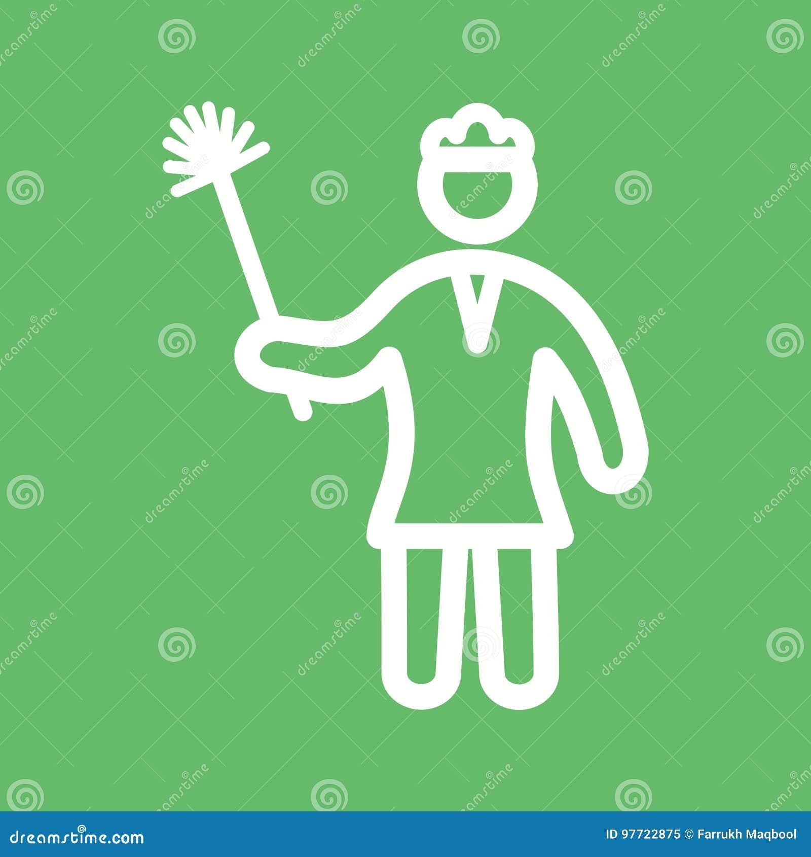 妇女打扫灰尘