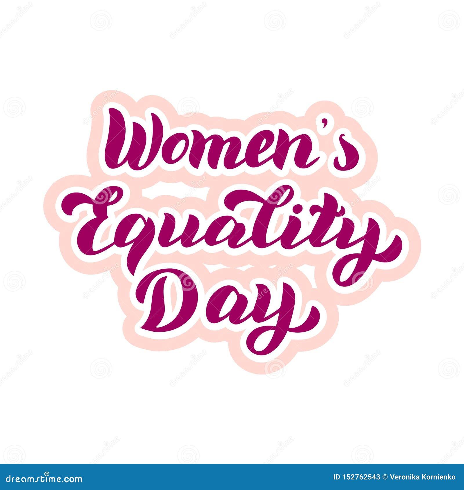 妇女的平等天印刷术贴纸 庆祝封缄信片 女权假日海报 o