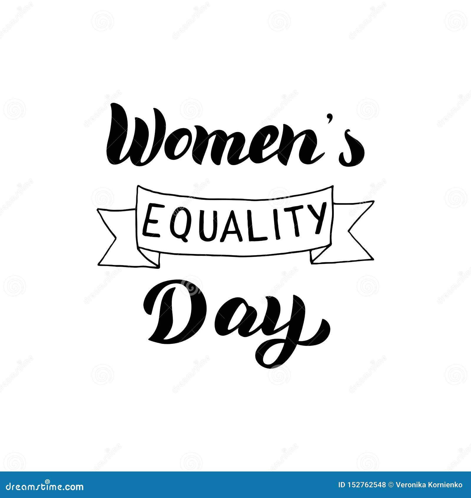 妇女的平等天字法文本 庆祝印刷术设计卡片 女权假日标志 ??