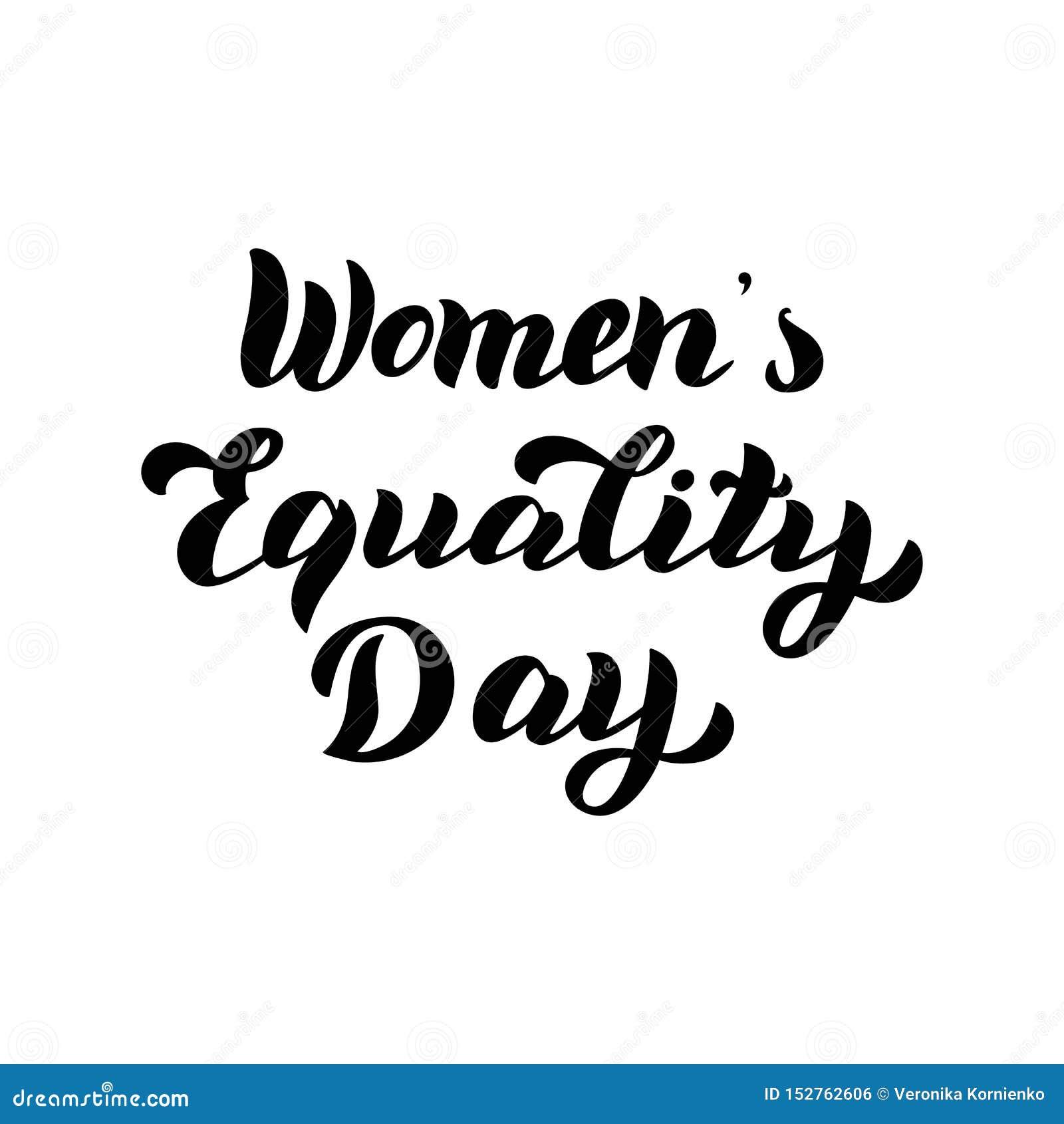 妇女的平等天文本 庆祝印刷术卡片 女权假日