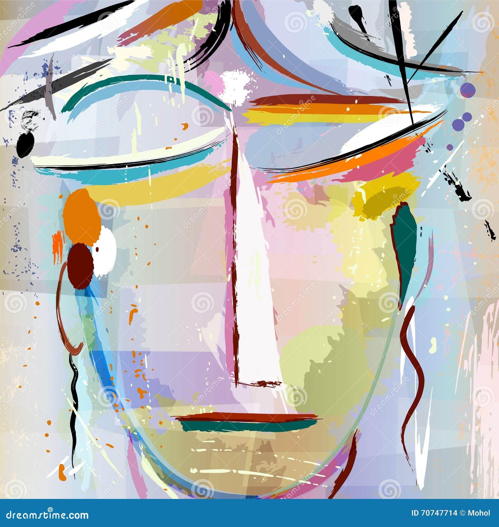 妇女的抽象面孔